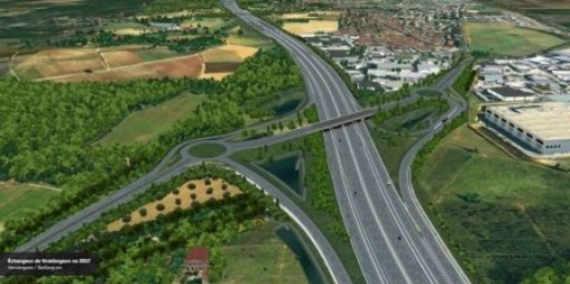 motorway aerial view