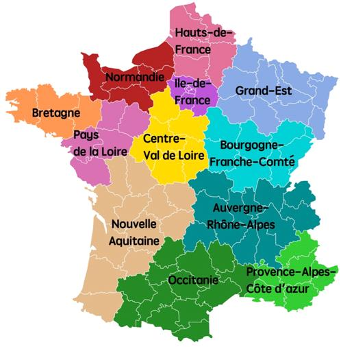 Regions In France Map.The New Regions In France
